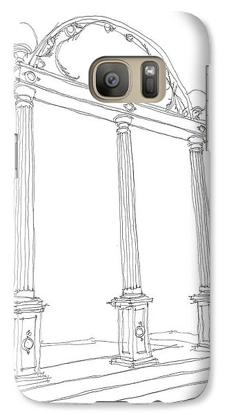 Galaxy Case featuring the drawing Georgia Arch by Calvin Durham