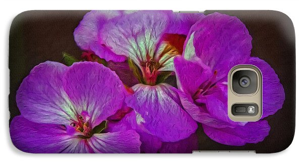 Galaxy Case featuring the photograph Geranium Blossom by Hanny Heim