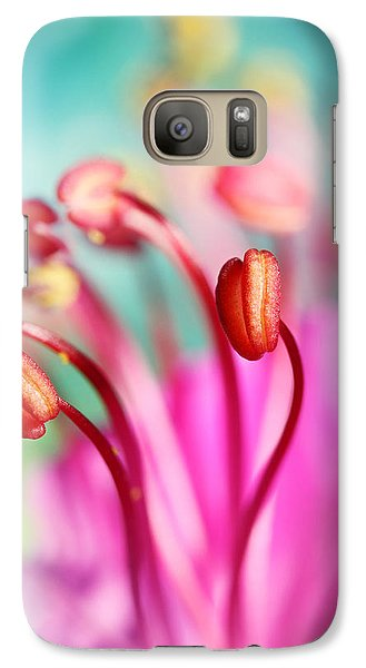 Galaxy Case featuring the photograph Geranium Candy by Sharon Johnstone