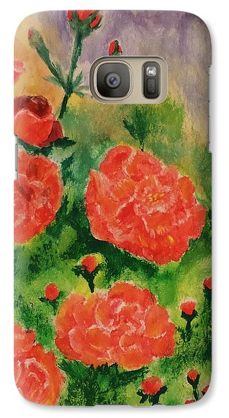Galaxy Case featuring the painting Geraniums by Christy Saunders Church