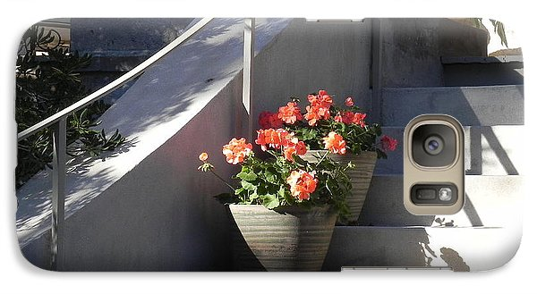 Galaxy Case featuring the photograph Geraniums Look Better In Beaufort by Patricia Greer