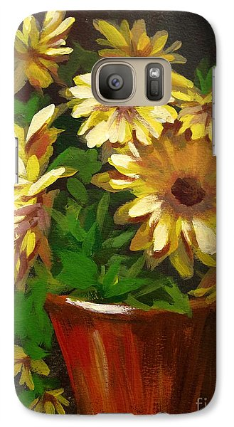 Galaxy Case featuring the painting Gerber Daisies 3 by Carol Hart