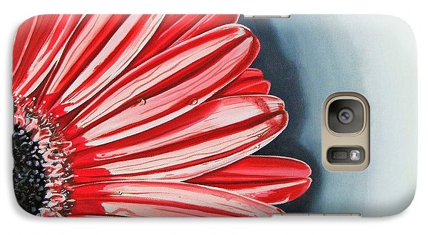 Galaxy Case featuring the painting Gerber Daisy 2 by Kevin F Heuman