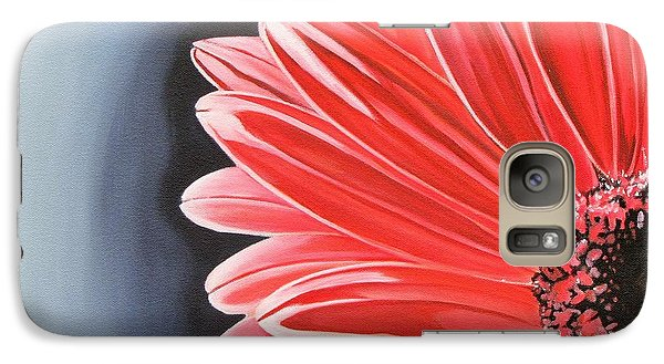 Galaxy Case featuring the painting Gerber Daisy by Kevin F Heuman