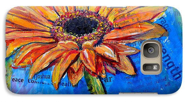 Galaxy Case featuring the painting Gerbera Daisy Love by Lisa Fiedler Jaworski