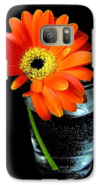 Galaxy Case featuring the photograph Gerbera Daisy In Glass Of Water by Nina Ficur Feenan