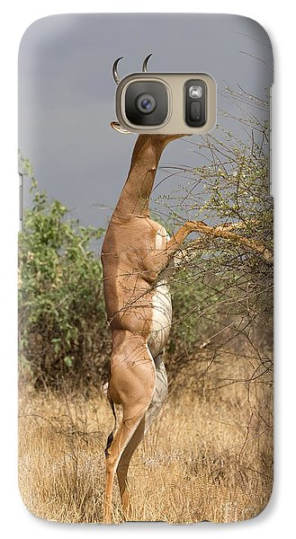 Galaxy Case featuring the photograph Gerenuk Antelope by Chris Scroggins