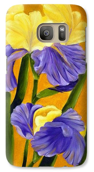 Galaxy Case featuring the painting German Bearded Iris  by Shelia Kempf