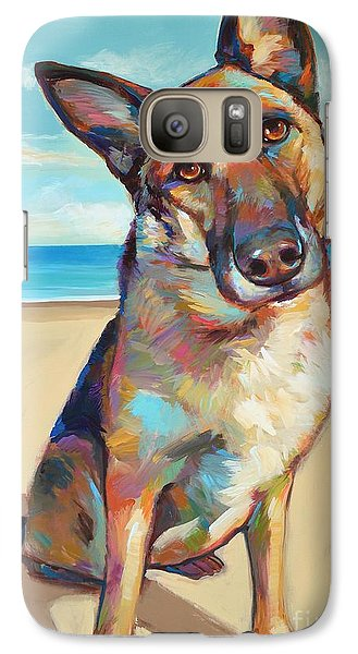 Galaxy Case featuring the painting German Shepard  by Robert Phelps