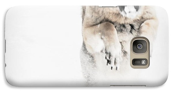 Galaxy Case featuring the photograph German Shepherd In The Snow by Tanya  Searcy