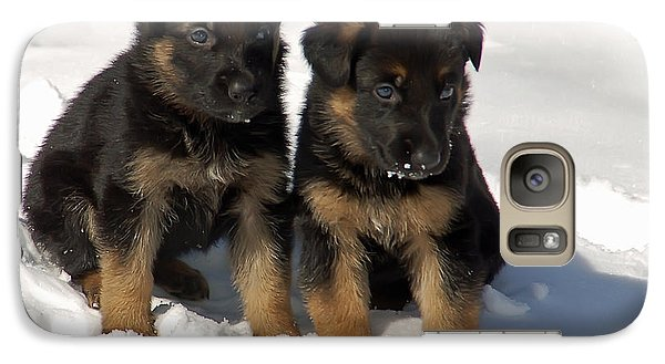 Galaxy Case featuring the photograph German Shepherd Pups by Aimee L Maher Photography and Art Visit ALMGallerydotcom