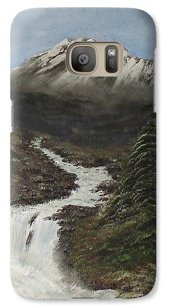 Galaxy Case featuring the painting Gerri's Mountain by J L Zarek