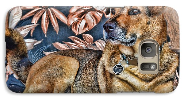 Galaxy Case featuring the photograph Gerry And The Lounge Chair by Barbara Manis