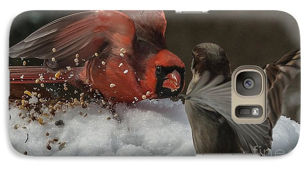 Galaxy Case featuring the photograph Get Off My Feeder by Jim Moore