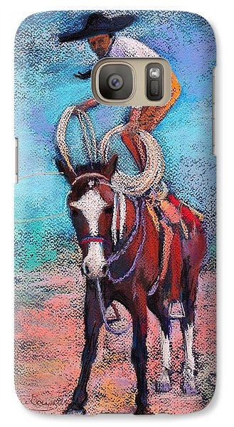 Galaxy Case featuring the painting Get Ready by M Diane Bonaparte