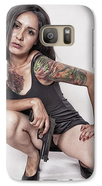 Galaxy Case featuring the photograph Gettin' Serious ...  by Chuck Caramella