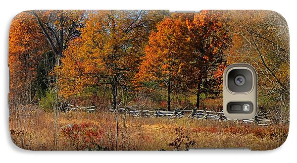 Galaxy Case featuring the photograph Gettysburg At Rest - Autumn Looking Towards The J. Weikert Farm by Michael Mazaika