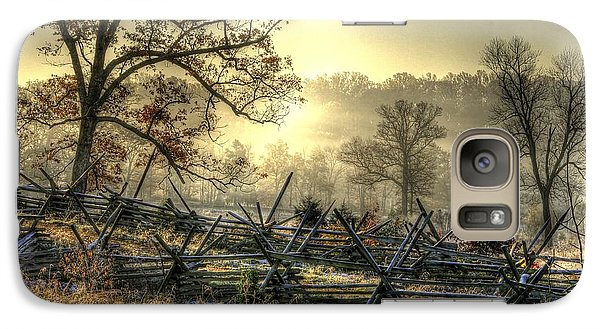 Galaxy Case featuring the photograph Gettysburg At Rest - Sunrise Over Northern Portion Of Little Round Top by Michael Mazaika