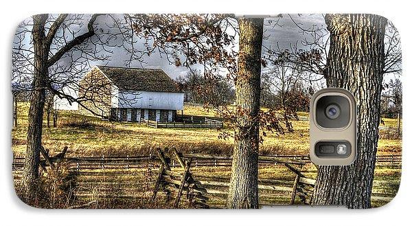 Galaxy Case featuring the photograph Gettysburg At Rest - Winter Edward Mc Pherson Farm by Michael Mazaika