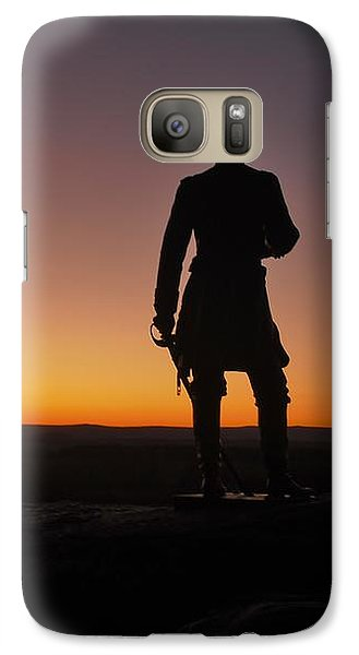 Galaxy Case featuring the photograph Gettysburg Sunset by Ed Sweeney