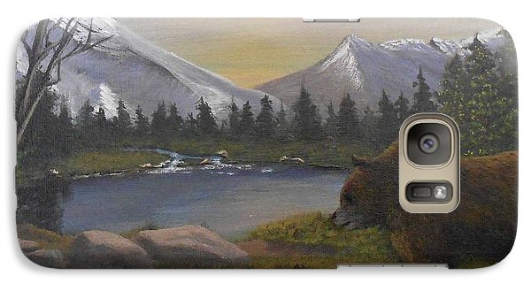 Galaxy Case featuring the painting Ghost Bear-the Cascade Grizzly by Sheri Keith