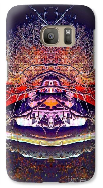 Galaxy Case featuring the photograph Ghost Car by Karen Newell