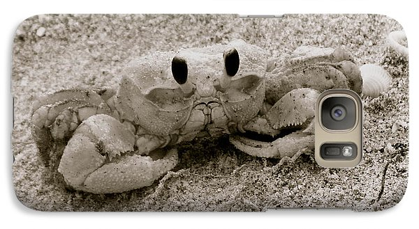 Galaxy Case featuring the photograph Ghost Crab by Melinda Saminski