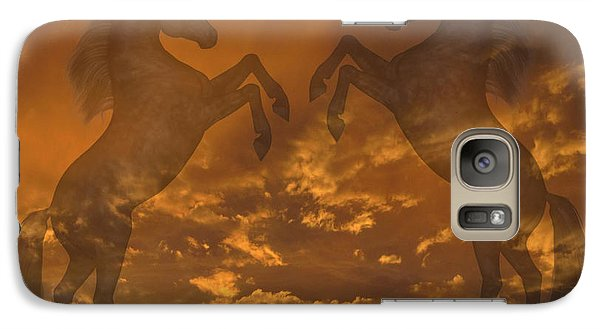 Ghost Horses At Sunset Galaxy S7 Case