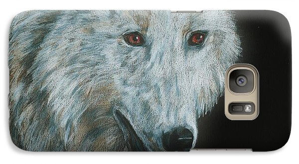 Galaxy Case featuring the drawing Ghost by Meagan  Visser