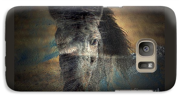 Galaxy Case featuring the photograph Ghost Pony by Irma BACKELANT GALLERIES