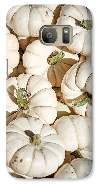 Galaxy Case featuring the photograph Ghost Pumpkins by Dawn Romine