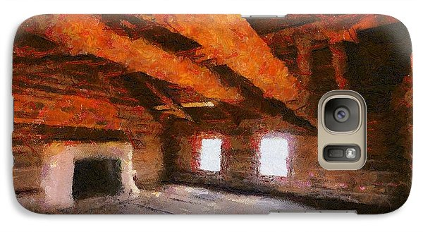 Galaxy Case featuring the digital art Ghost Ranch Cabin by Carrie OBrien Sibley
