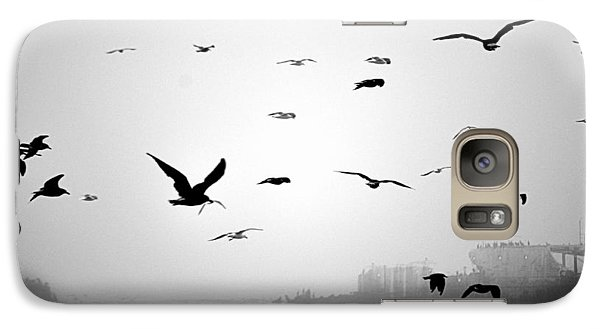 Galaxy Case featuring the photograph Ghost Ship by AJ  Schibig