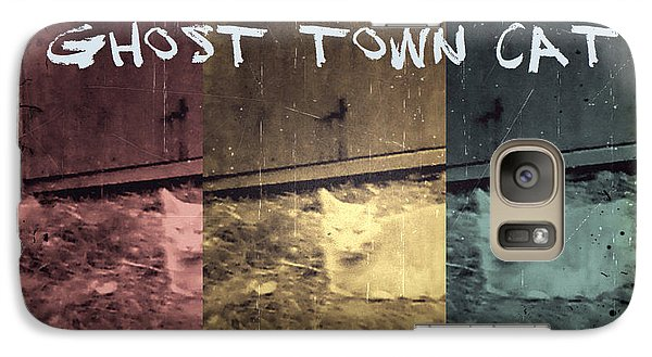 Galaxy Case featuring the photograph Ghost Town Cat by Absinthe Art By Michelle LeAnn Scott