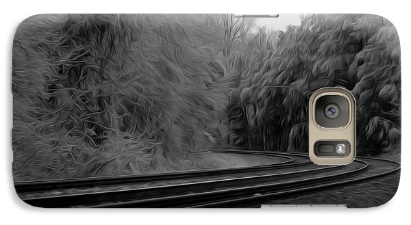 Galaxy Case featuring the digital art Ghostly Curves by Kelvin Booker