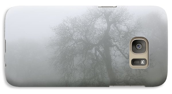 Galaxy Case featuring the photograph Ghostly Oak In Fog - Central California by Ram Vasudev