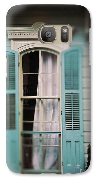 Galaxy Case featuring the photograph Ghostly Window by Heather Green