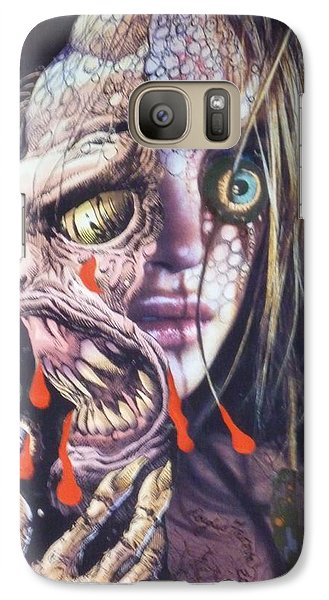 Galaxy Case featuring the mixed media Ghoulshead by Douglas Fromm