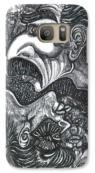 Galaxy Case featuring the mixed media Giacomo And Friends by Giovanni Caputo