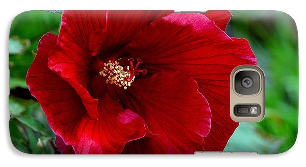 Galaxy Case featuring the photograph Giant Red Hibiscus by Kathleen Stephens