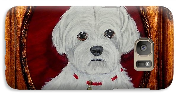Galaxy Case featuring the painting Gidget.my Maltese by Fram Cama