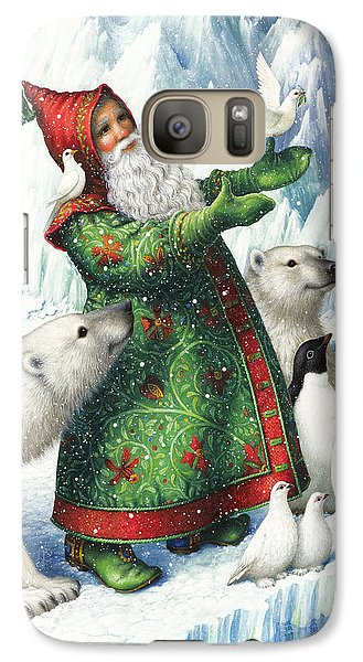 Penguin Galaxy S7 Case - Gift Of Peace by Lynn Bywaters