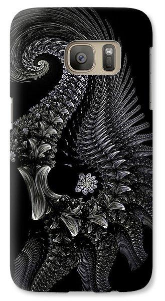 Galaxy Case featuring the digital art Gigeresque II by Lea Wiggins
