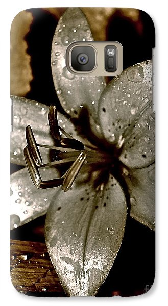 Galaxy Case featuring the photograph Gilded  Lilies 2 by Linda Bianic