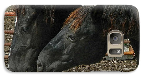 Galaxy Case featuring the photograph Gimme That Apple by Kathy Barney