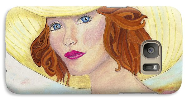 Galaxy Case featuring the painting Ginger by Arlene Crafton