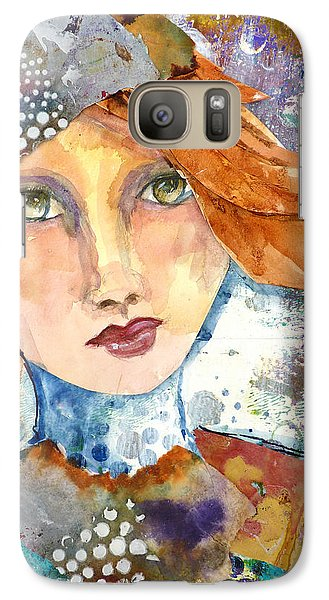 Galaxy Case featuring the mixed media Ginger Girl by P Maure Bausch