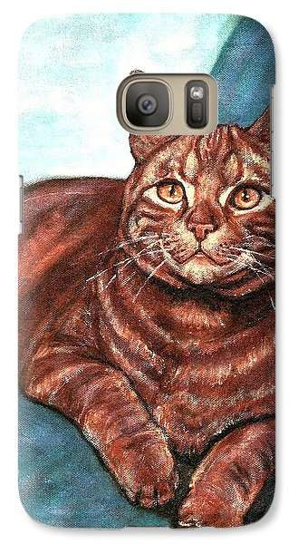 Galaxy Case featuring the painting Ginger Tabby by VLee Watson