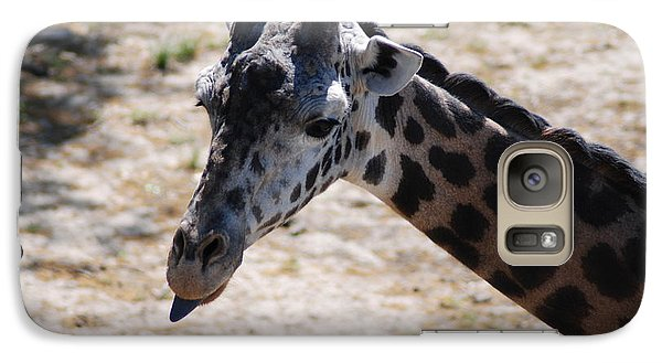 Galaxy Case featuring the photograph Giraffe Close-up by Mark McReynolds