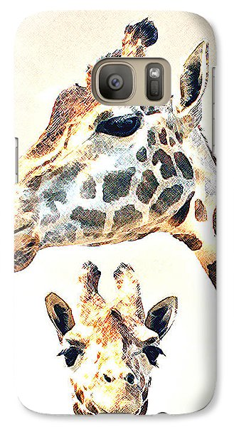 Galaxy Case featuring the photograph Giraffe Faces by Christopher McKenzie